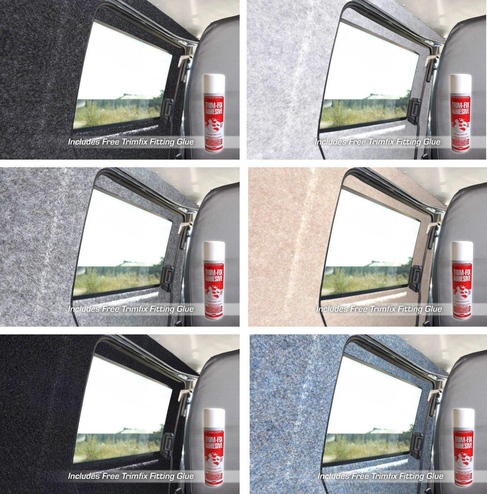 Car Parts - Various Size Van Lining Carpet Kit Super Stretch Inc Trimfix Spray Glue Camper