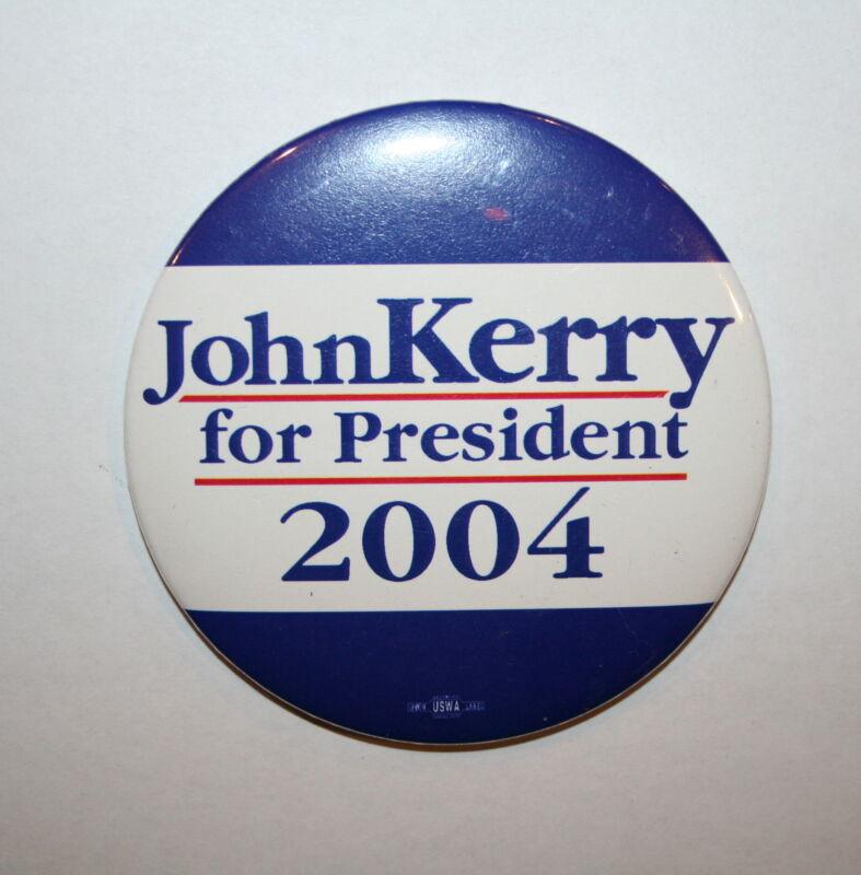 2004 Kerry vs. Bush President Campaign Button Political Pinback Pin