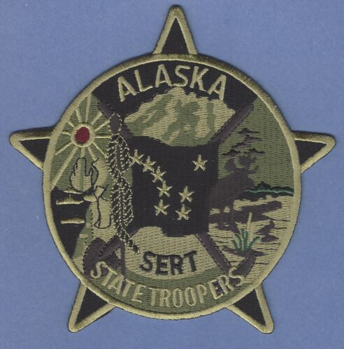 ALASKA STATE TROOPER POLICE SERT TACTICAL SHOULDER PATCH GREEN