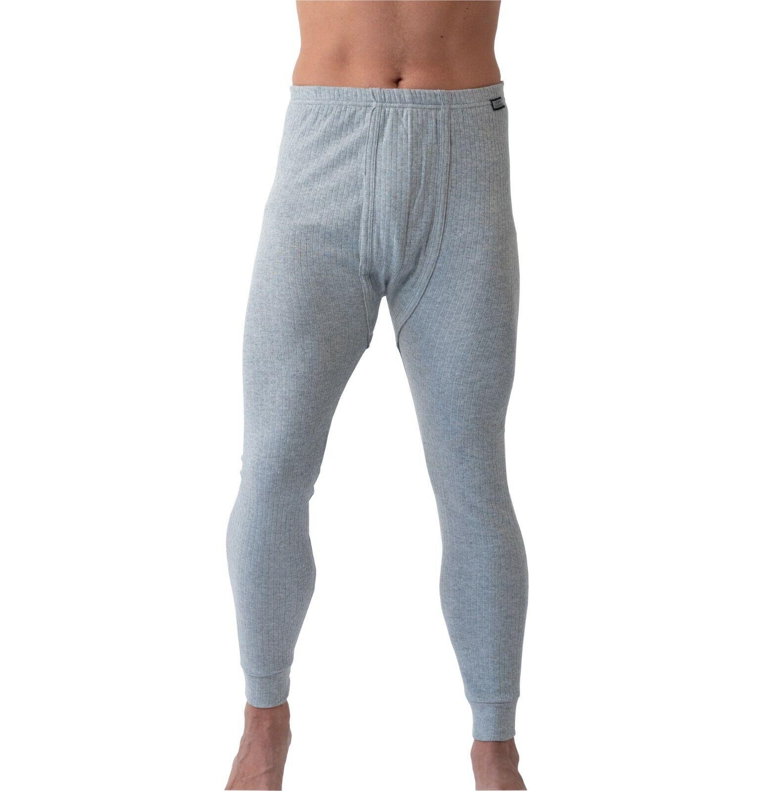 Unterhose lang Thermounterhose Herren bequeme Unterwäsche mit Eingriff Cottonery