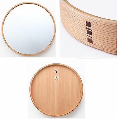 Muji traditional hand made mirror made by Natural Akita Japan cedar 200years old