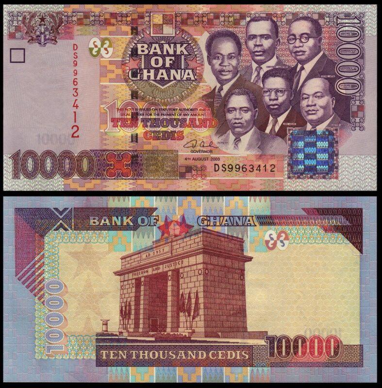 GHANA 10000 10,000 CEDIS 2003 P 35b UNC