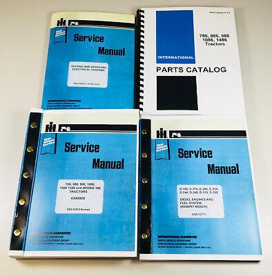 International 886 Tractors Parts Service Repair Shop Manuals 14472 Up Complete