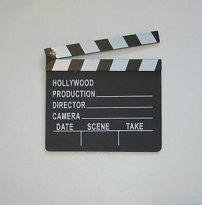 1 NEW MOVIE DIRECTOR'S CLAPBOARD PROP HOLLYWOOD CLAPPER CHALKBOARD PARTY DECOR - Movie Director Clapboard