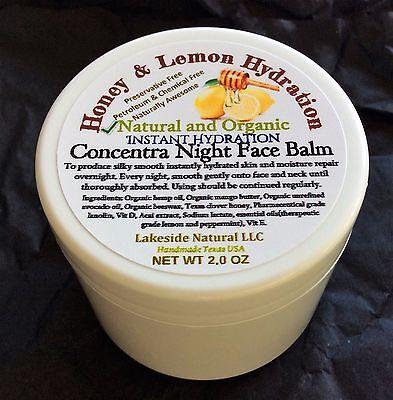 Instant Hydration Night Cream Face Balm - Honey & Lemon Moisturizer for Dry Skin