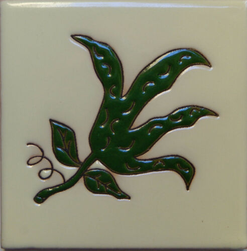 Mexican Tile Malibu Vegetable Santa Barbara Tiles Cuerda Seca Green Beans F-22
