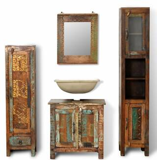 New Items-Reclaimed Solid Wood Vanity Cabinet  (SKU241135) vidaXL