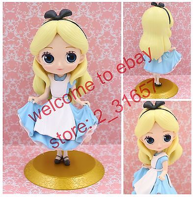 Q posket Disney Characters girl Princess PVC figure toy gift Loose ALICE Golden - Girl Disney Characters