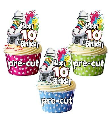 Roller Skate Decorations (PRECUT Roller Skate Skating Cup Cake Toppers Decorations Birthday Party ANY)