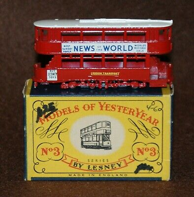Matchbox Models of Yesteryear 1907 London E Class Tramcar Y3-1 Issue 15 B Box