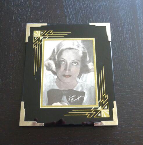 Art Deco Reverse Painted Glass Frame Joan Crawford Hollywood Black 1930