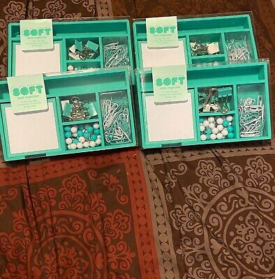 Soft Desk Organizer Supplies Mint Green New Free Fast Shipping Set Of 2