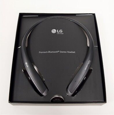 LG Tone Platinum+ Plus HBS-1125 Wireless Stereo Headset Neck Headphones BLACK