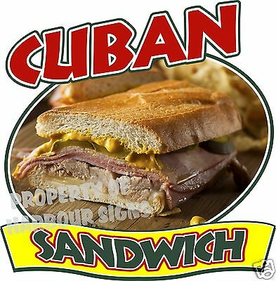 Cuban Sandwich Decal 14 Concession Restaurant Food Truck Van Vinyl Sign Sticker