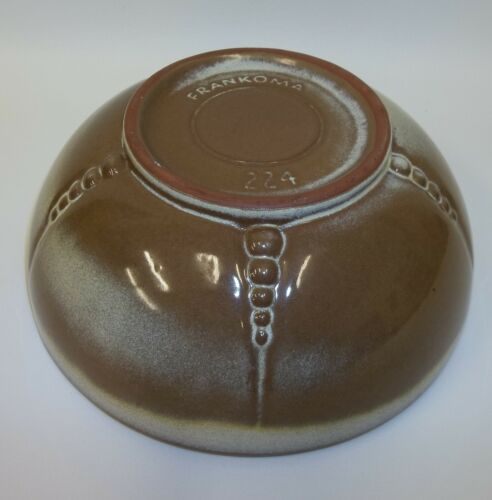 Frankoma Pottery Plainsman Brown Gold Mixing Serving Bowl