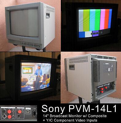 "ALMOST MINT! Sony PVM-14L1 14"" Broadcast Video Monitor Y/C - Gaming - LocalPULA"