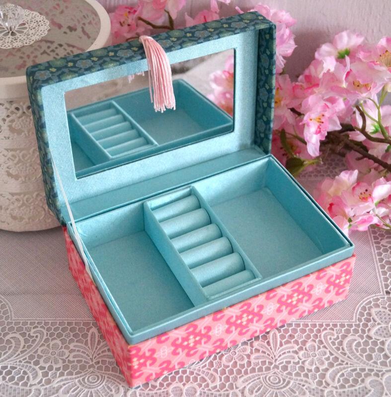 Schmuckkasten Schmuckkästchen Schmuckkoffer Schmuckschatulle rosa Mädchen Kinder