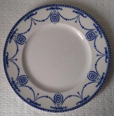 "Vintage ~ Wood & Son Ltd. ~ 9"" SALAD PLATE ~ Royal Semi Porcelain ~ Blue / White"
