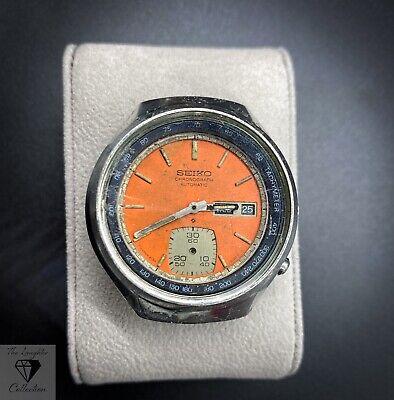 Vintage Seiko 6139 Chronograph Orange Dial - For Repair (125.7)