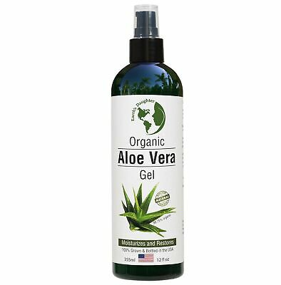 ALOE VERA Gel 12oz - 99.75% Pure and ORGANIC For Face and Ha