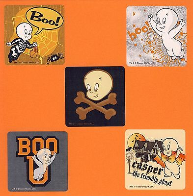 Casper Halloween Party (10 Casper the Friendly Ghost - Large Stickers - Party Favors -)
