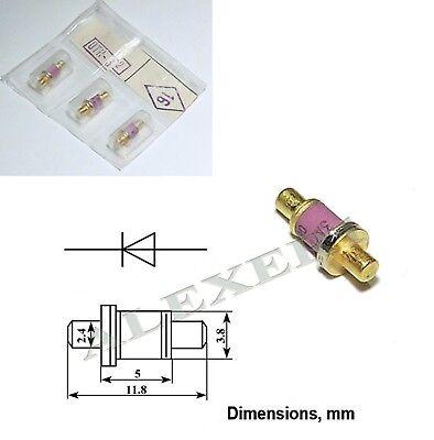 3a703a Dgb8625 Microwave Gaas Gunn Diode 8.24...12.5ghz 100mw Gold Plated