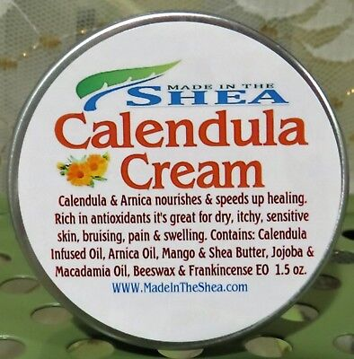 Calendula Arnica Cream, Salve, Bruising, Heat Rash, Eczema, Diaper 1- 1.5oz. Tin