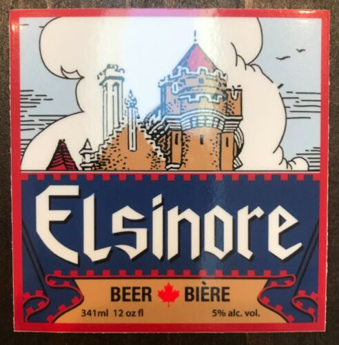 Elsinore BEER STICKER Strange Brew vinyl shirt hat ale Canada Canadian
