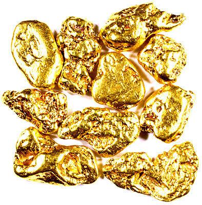 10 Piece Lot Alaskan Yukon Bc Natural Pure Gold Nuggets Free Shipping   L252