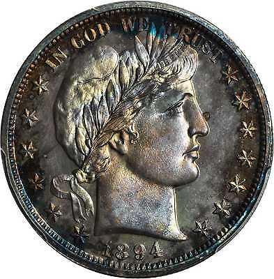 Click now to see the BUY IT NOW Price! 1894 BARBER HALF DOLLAR. PROOF 67 PCGS.