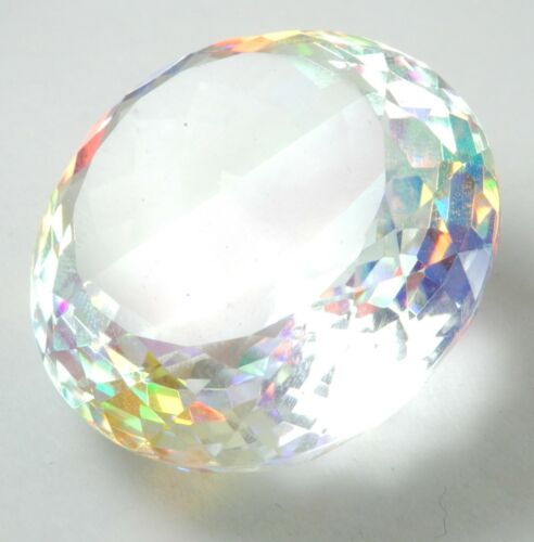 84.10 Cts Lab-Created IGL Certified Round Cut Mystic Quartz Loose Gemstone