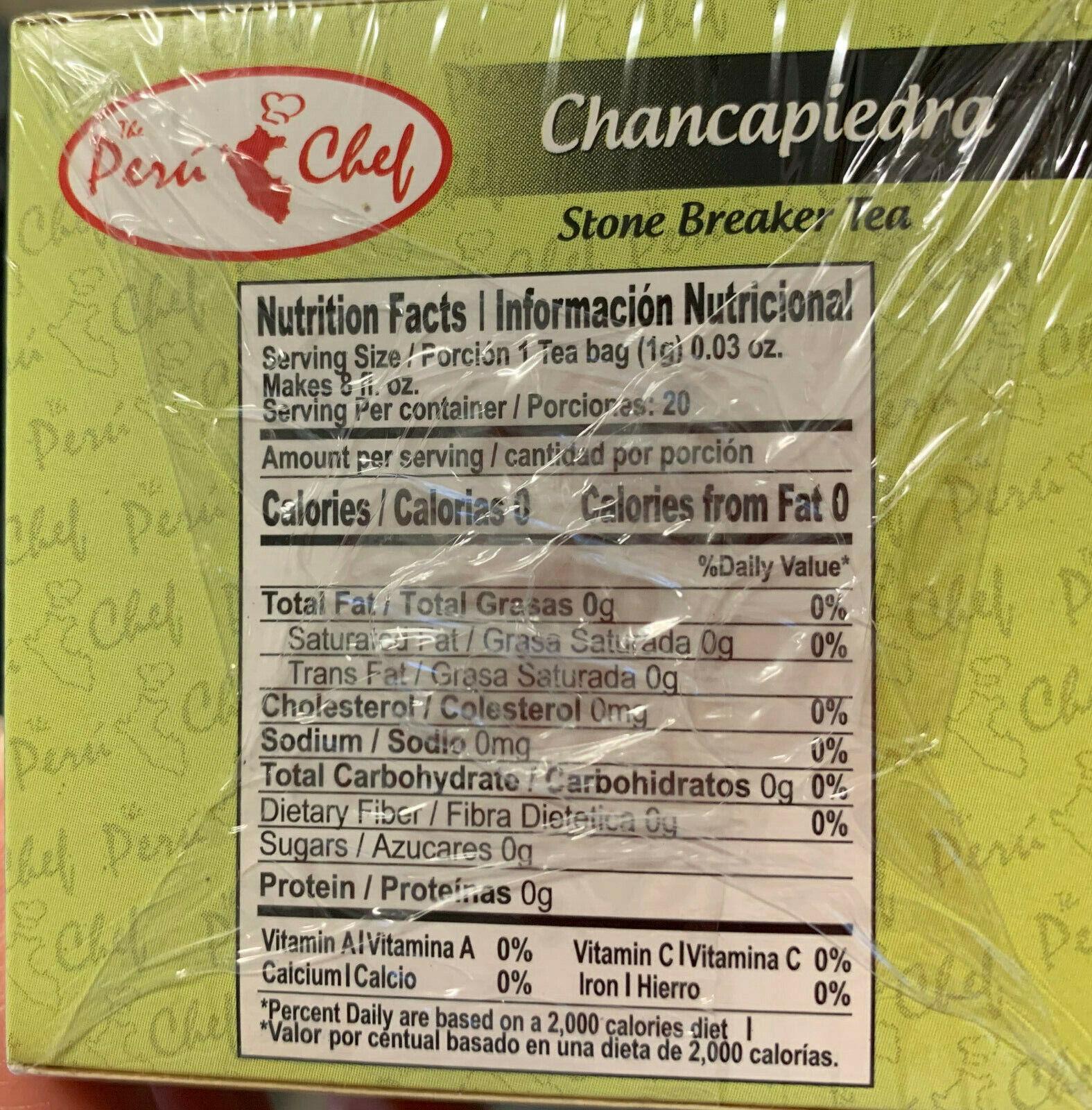 Chanca Piedra Hierba Te (Stone Braker Herbs Tea) 3 Bags 4