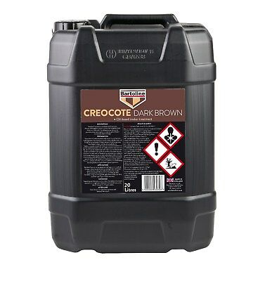 Bartoline Creocote Oil Based Timber Treatment Dark Brown Creosote Sub 20 Litre