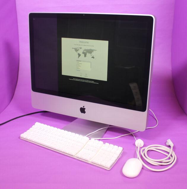 """Apple 2008 24"""" iMac Core 2 Duo 2.8GHz 320GB 4GB 10.11 El Capitan Keyboard Mouse"""