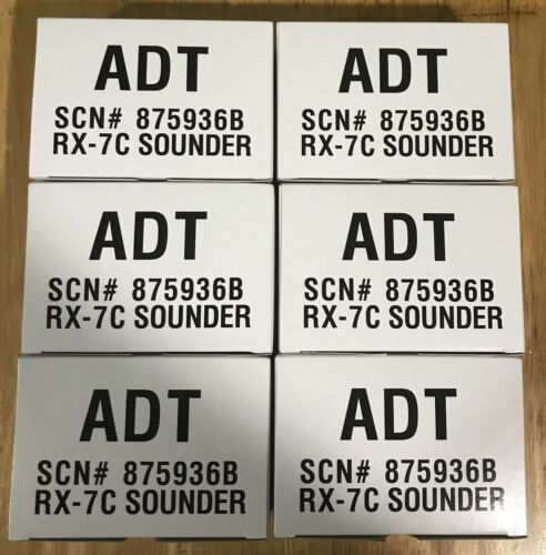 NEW (Lot of 6)  ADT/HONEYWELL RX7 / RX-7C Indoor Sounder SCN# 875936B