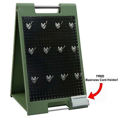 Two-sided Peg Board Counter Top Display With Hangers Retail Hanger Trade Show