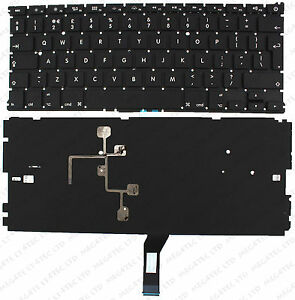 APPLE MACBOOK AIR 13'' 2011 A1369 A1466 KEYBOARD UK LAYOUT WITH BACKLIT F69