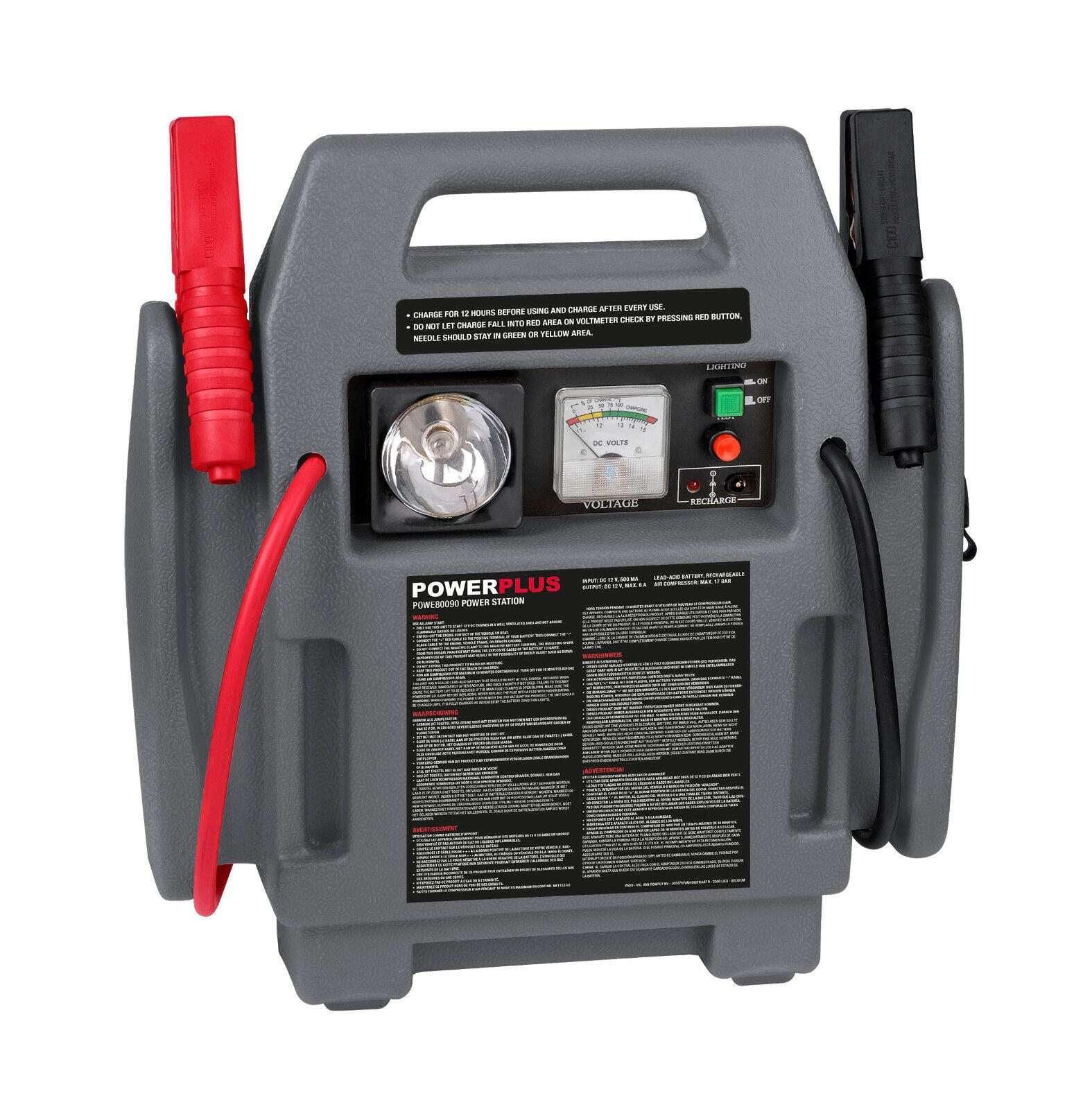 Jump Starter Booster Avviatore portatile emergenza auto 900A 12V con compressore