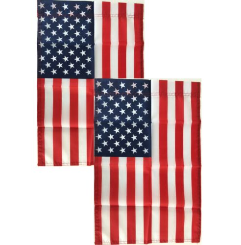American Garden Flags 12x18 - 2 Pack - United States of America - Yard Banner