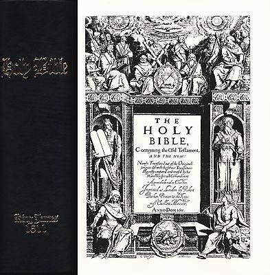 The Bible King James Version Facsimile Small Folio Black Binding 1611 & 2011  for sale  Oakland