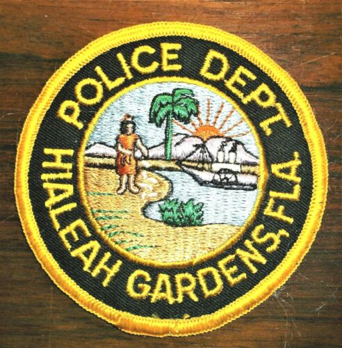 GEMSCO NOS Vintage Patch POLICE DEPARTMENT HIALEAH GARDENS FL - 45+ year old