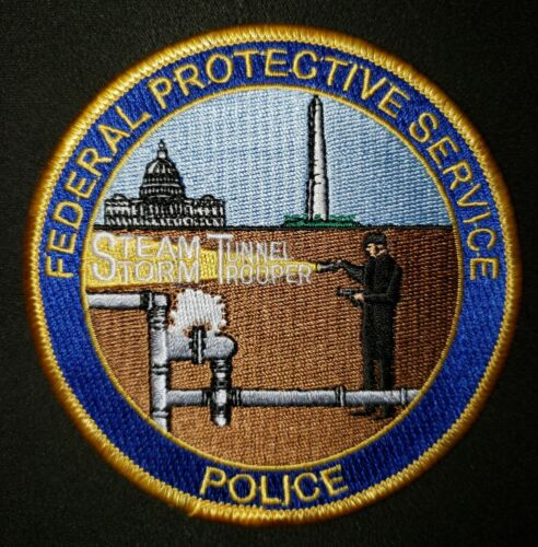 FEDERAL PROTECTIVE SERVICE POLICE PATCH STEAM TUNNEL STORM TROOPER FPS MD DC VA