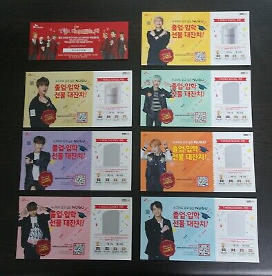 BTS SKT NUGU T World School Official Coupon PhotoCard SET JungKook Jimin V SUGA+