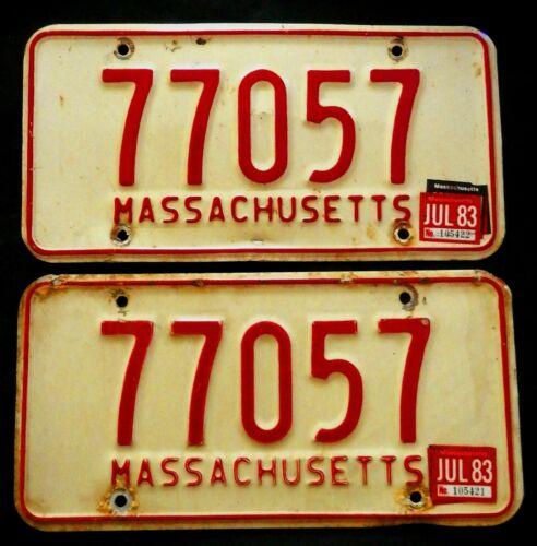 1980s Massachusetts License Plates  77057
