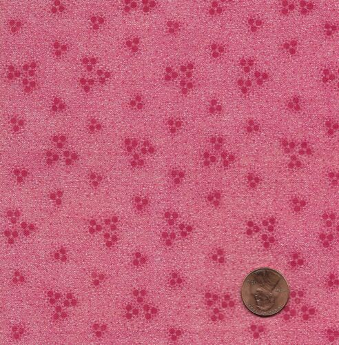 Antique 1870 Solid Cinnamon Pink with Dot Clusters Fabric