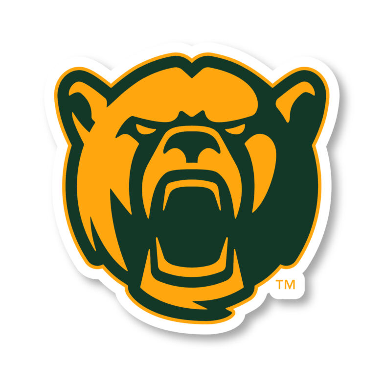 Baylor Bears 4 Inch Vinyl Mascot Decal Sticker