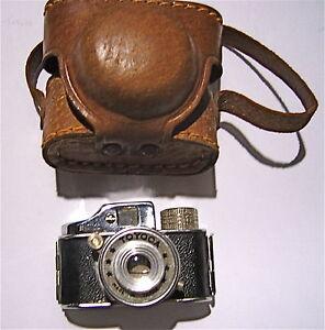 ancien mini appareil photo toyoca dans son etui en cuir d 39 origine ebay. Black Bedroom Furniture Sets. Home Design Ideas