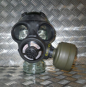 Genuine-Black-Rubber-Gas-Mask-with-Filter-Size-Adjustable-Brand-new-in-box