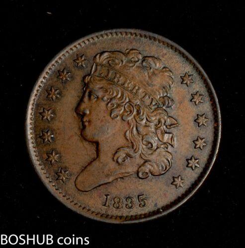 1835 Classic Head Half Cent 1/2c almost uncirculated