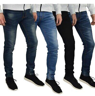 Denim - Mens Slim Fit Stretch Jeans Comfy Fashionable Super Flex Denim Pants